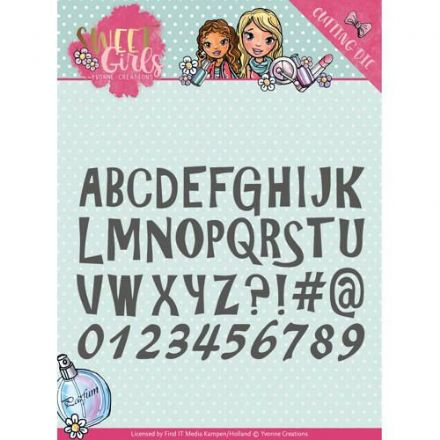 YCD10121 L ~ Sweet Girls ~ Lovely Alphabet ~ Yvonne Creations